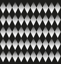 background black and white rhombuses vector image