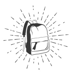 Backpack doodle sketch isolated on white vector