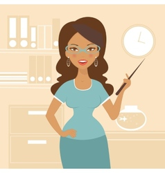 Beautiful business woman vector image