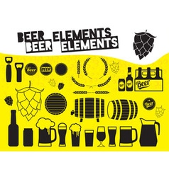 Beer elements vector