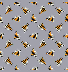 bees seamless pattern abstract geometrical vector image