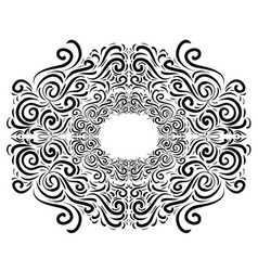Black and white vintage vignette object is vector