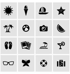black sport icon set vector image vector image