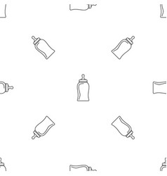 bottle nipple pattern seamless vector image