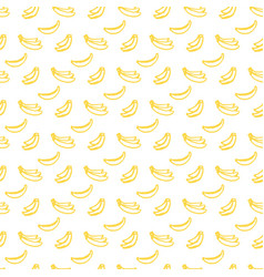 Brush banana seamless pattern vector