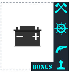 car battery icon flat vector image