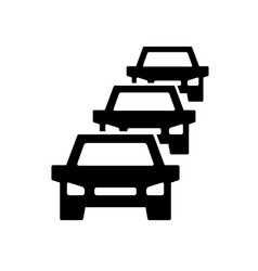 car traffic jam symbol and sign on vector image