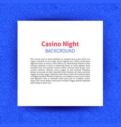 casino night paper template vector image