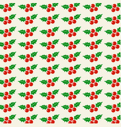 Chrismtas cherries pattern vector
