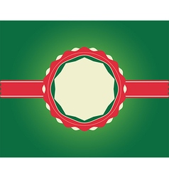 Christmas Greeting Card ribbon with copy space vector