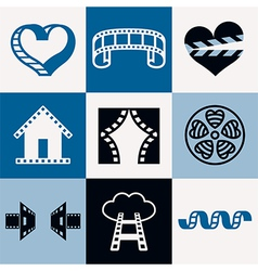 Cinema logo icons vector