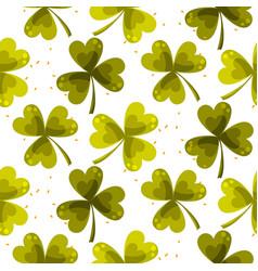 clover trefoil leaf seamless pattern vector image