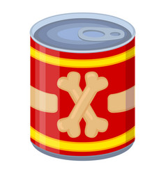colorful cartoon canned pet food vector image