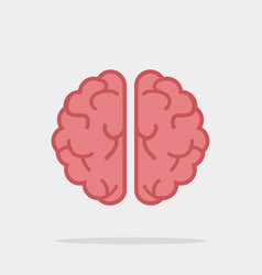 creative brain flat vector image