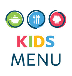 Creative kids menu design template vector
