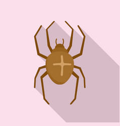 Cross spider icon flat style vector