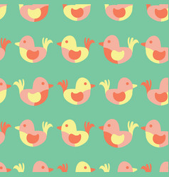 cute birds seamless pattern simple birds vector image