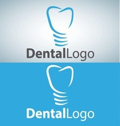 dental logo 6 vector image