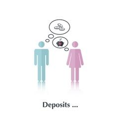 Deposits vector image
