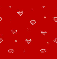 Diamond seamless pattern red background vector