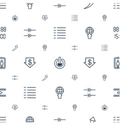 Down icons pattern seamless white background vector
