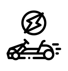 Electric kart black icon vector