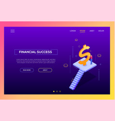 financial success - modern isometric vector image