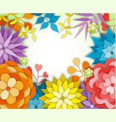 Floral graphic design - with colorful flowers vector