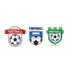 football league logo templates set sports team vector image