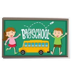 Girl and boy back to school vector