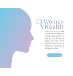 girl silhouette women health advertising banner vector image