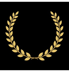 Gold laurel wreath 3 vector