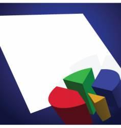graphs and charts vector image