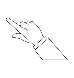 Hand business man finger point gesture icon vector