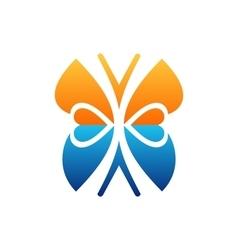 Heart butterfly logo beauty symbol icon design vector