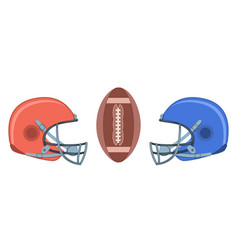 helmets and ball set vector image
