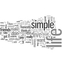 How to live a simple life vector