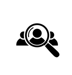 human resource icon search for employees and job vector image