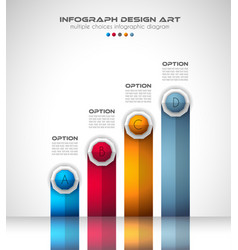 infograph brochure template with a lot of choices vector image
