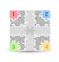 infographics - four options with puzzle pieces vector image