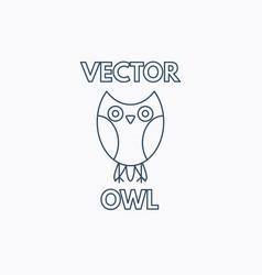 linear owl emblem vector image
