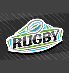 Logo for rugby sport vector