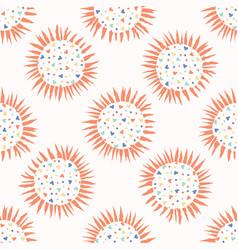 love heart confetti polka dot sun seamless vector image