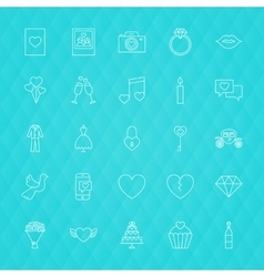 Love Romance Line Icons vector