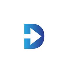 luxury logotype premium letter d logo with modern vector image