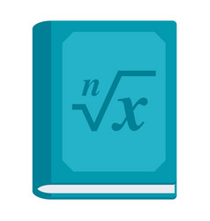 Math book icon vector