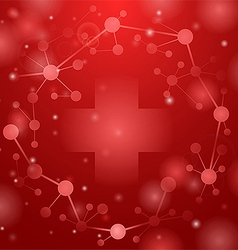Medical cross on red vector
