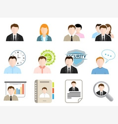 Modern Business Flat Icons vector image