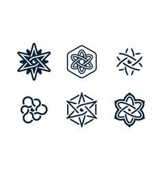 modern professional atom elements and symbols set vector image