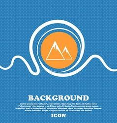 Mountain Icon sign Blue and white abstract vector